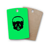 "BarmalisiRTB ""Black Panda"" Green Rectangle Wooden Cutting Board"