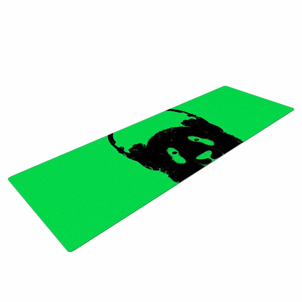 "BarmalisiRTB ""Black Panda"" Black Green Digital Yoga Mat"