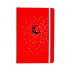 "BarmalisiRTB ""Black Moon"" Red White Everything Notebook - KESS InHouse  - 1"