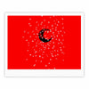 "BarmalisiRTB ""Black Moon"" Red White Fine Art Gallery Print - KESS InHouse"