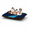 "BarmalisiRTB ""Welcomes Peace"" Blue Illustration Dog Bed - KESS InHouse  - 1"
