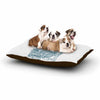 "BarmalisiRTB ""Tidal Wave"" Blue Illustration Dog Bed - KESS InHouse  - 1"