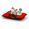 "BarmalisiRTB ""Bull"" Red Abstract Dog Bed - KESS InHouse  - 1"