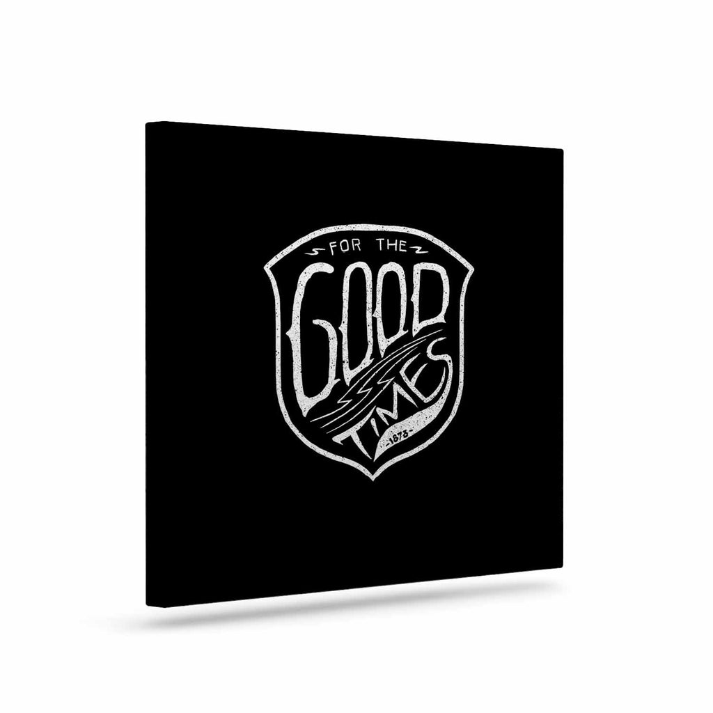 "BarmalisiRTB ""For The Good Time"" Black White Illustration Canvas Art"