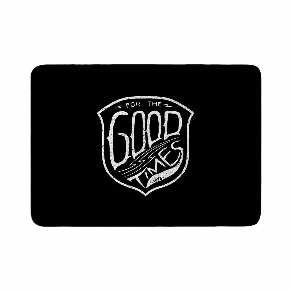 "BarmalisiRTB ""For The Good Time"" Black White Illustration Memory Foam Bath Mat"