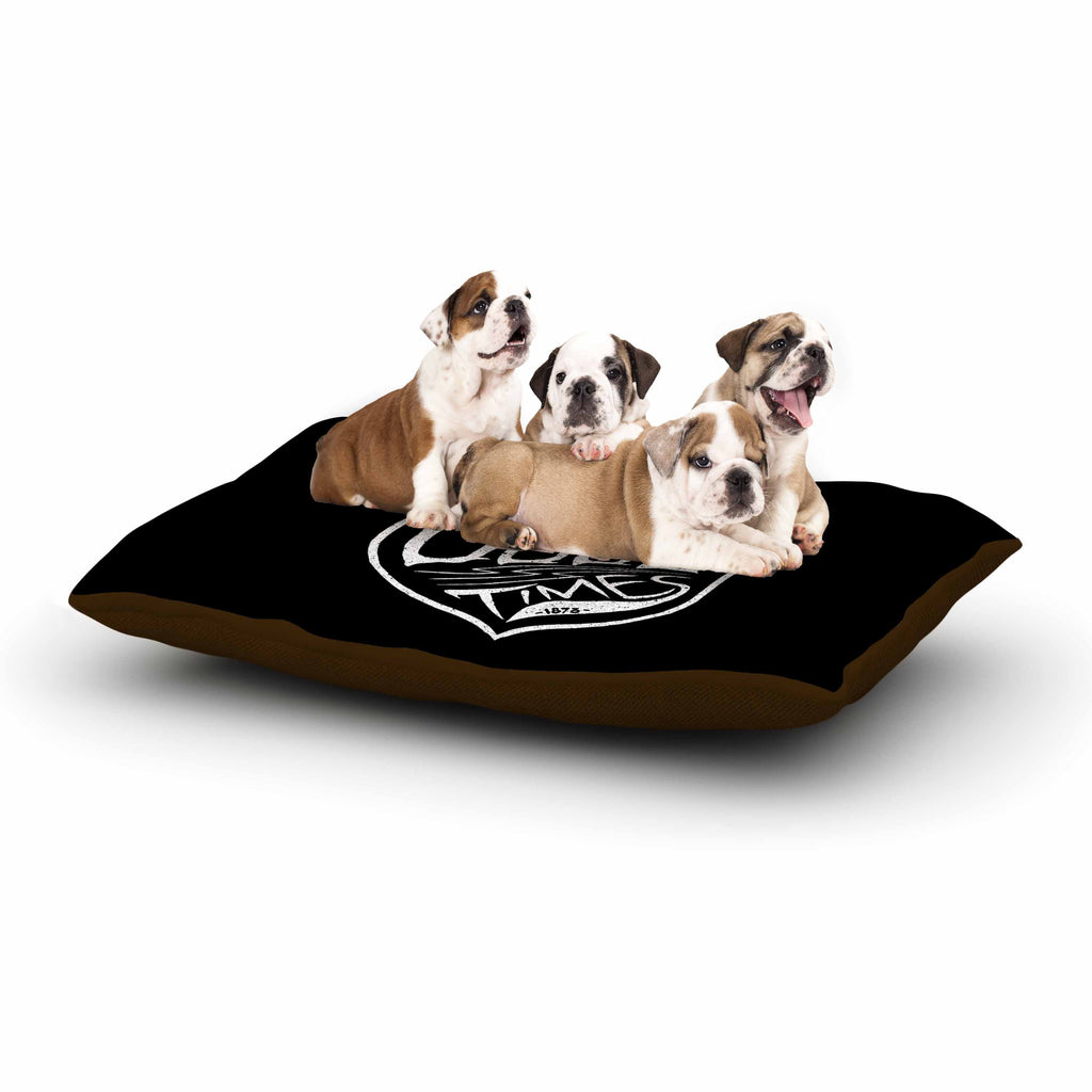 "BarmalisiRTB ""For The Good Time"" Black White Illustration Dog Bed"