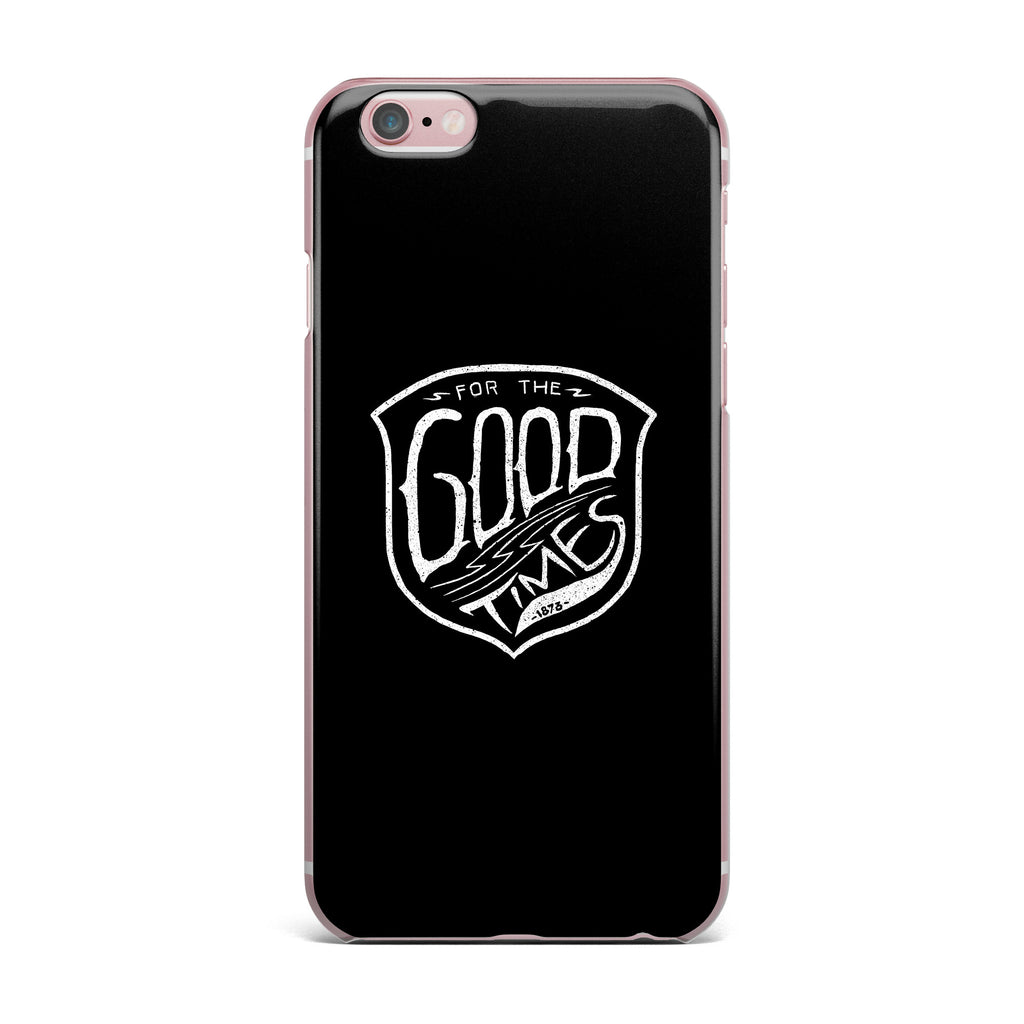 "BarmalisiRTB ""For The Good Time"" Black White Illustration iPhone Case"