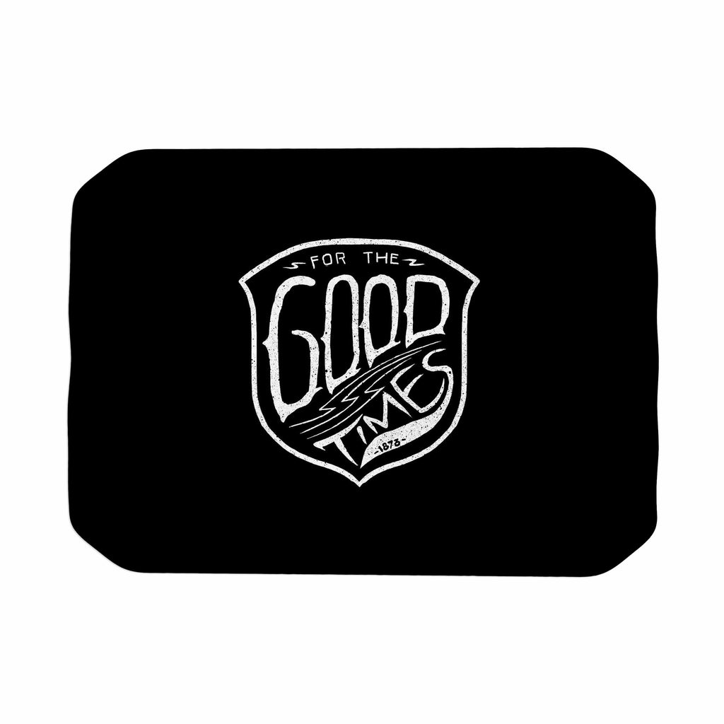 "BarmalisiRTB ""For The Good Time"" Black White Illustration Place Mat"