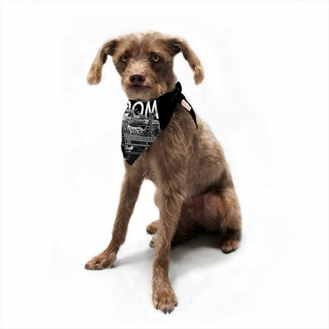 "BarmalisiRTB ""Freedom"" Black White Digital Pet Bandana - Outlet Item"