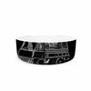 "BarmalisiRTB ""Freedom"" Black White Digital Pet Bowl - KESS InHouse"