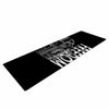 "BarmalisiRTB ""Freedom"" Black White Digital Yoga Mat - KESS InHouse  - 1"