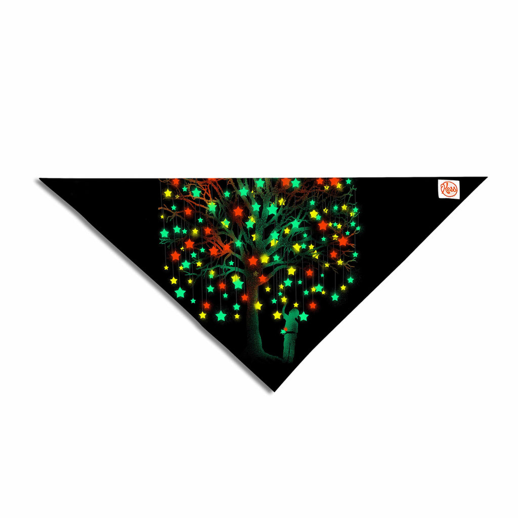 "BarmalisiRTB ""Picking Stars"" Multicolor Black Digital Pet Bandana - KESS InHouse  - 1"