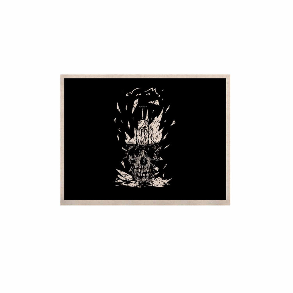 "BarmalisiRTB ""Broken Bulb Skull"" Black White Digital KESS Naturals Canvas (Frame not Included) - KESS InHouse  - 1"