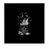 "BarmalisiRTB ""Broken Bulb Skull"" Black White Digital Luxe Square Panel - KESS InHouse  - 1"