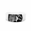 "BarmalisiRTB ""Night Wolf"" Black White Illustration Pet Bowl - KESS InHouse"