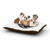 "BarmalisiRTB ""Funky Cat"" Black White Illustration Dog Bed - KESS InHouse  - 1"