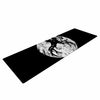 "BarmalisiRTB ""Deer At Night"" Black White Digital Yoga Mat - KESS InHouse  - 1"