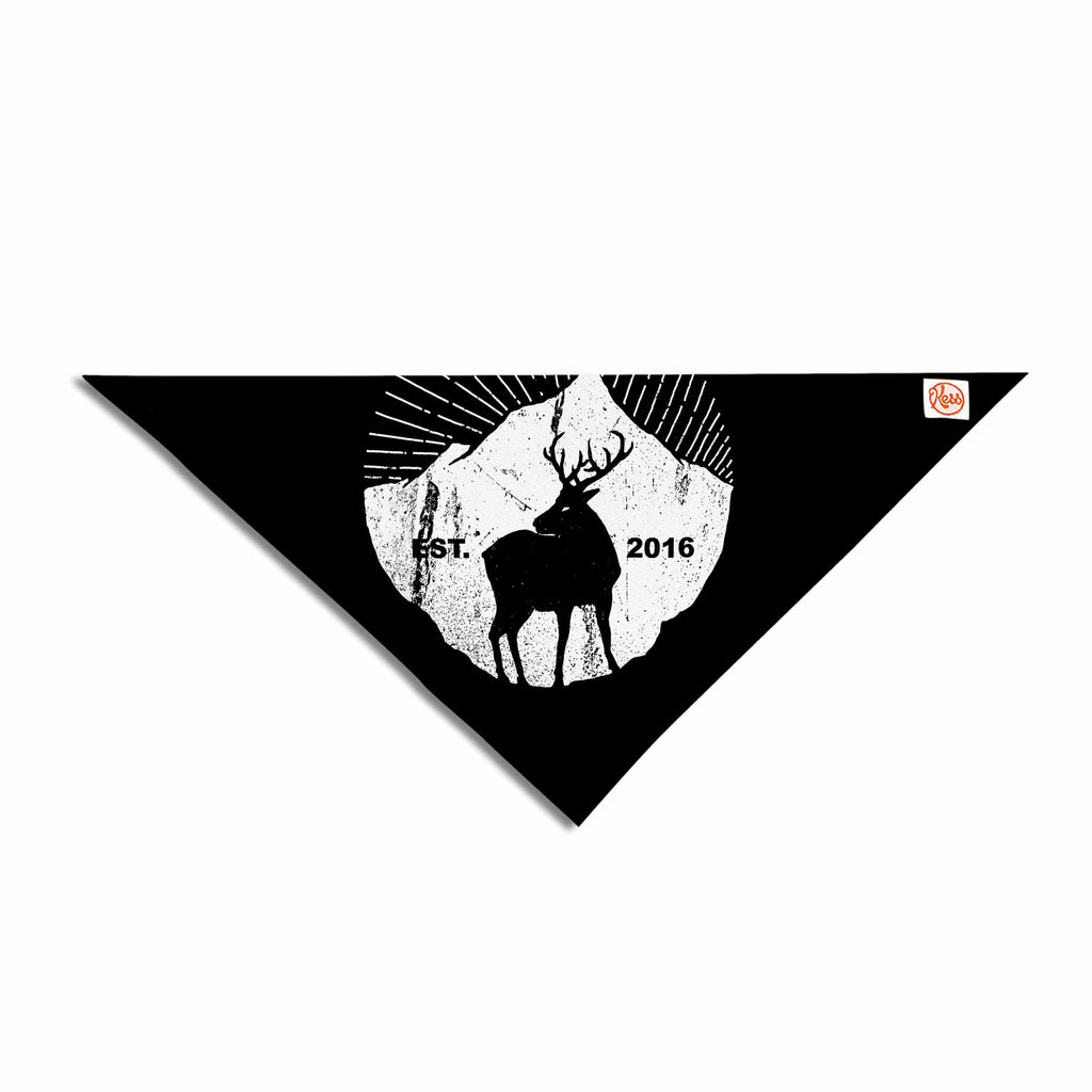 "BarmalisiRTB ""American Mountain Deer"" Black White Digital Pet Bandana - KESS InHouse  - 1"
