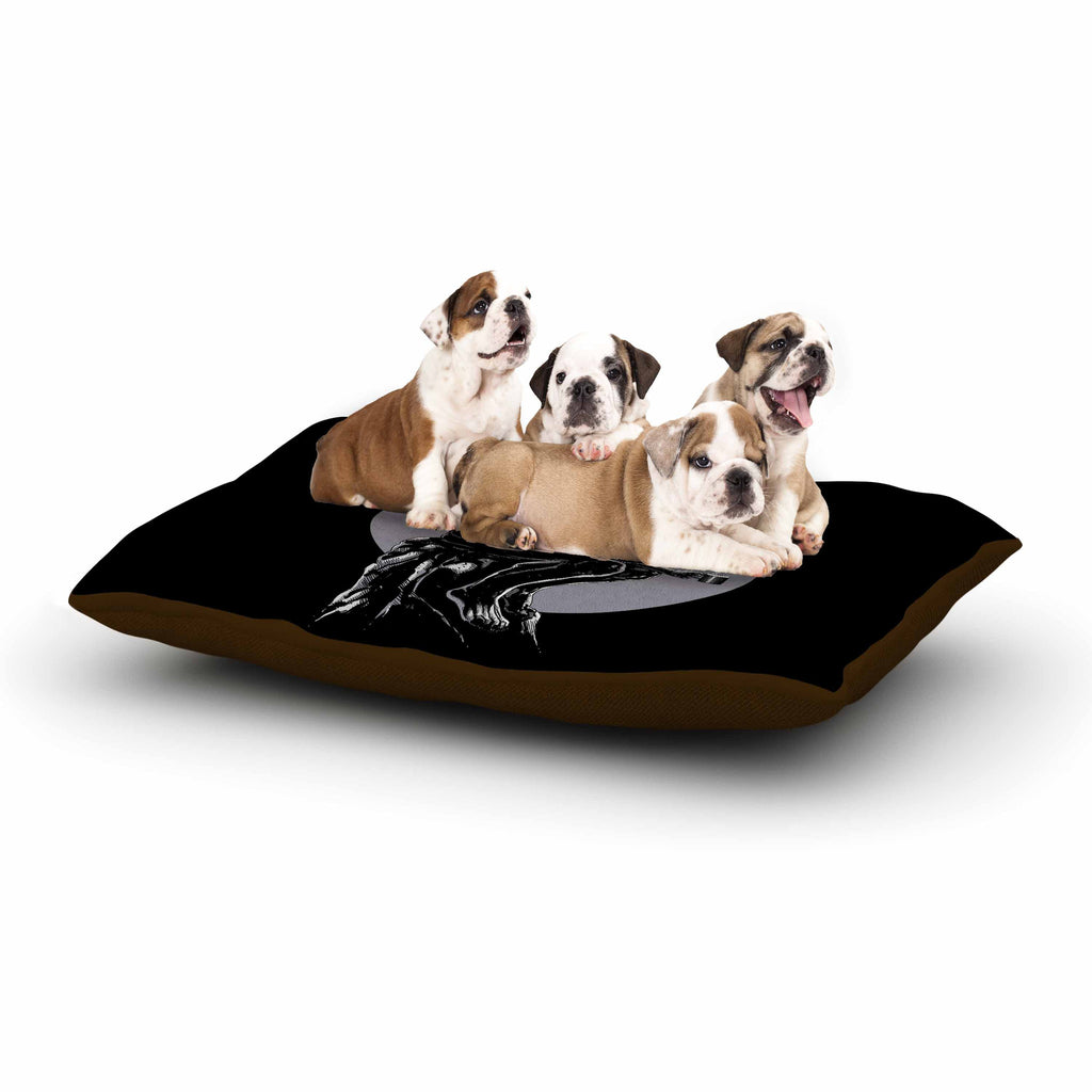 "BarmalisiRTB ""The Thinker Coffee"" Black White Digital Dog Bed - KESS InHouse  - 1"