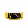 "BarmalisiRTB ""North Dakota"" Yellow Black Digital Pet Bowl - KESS InHouse"