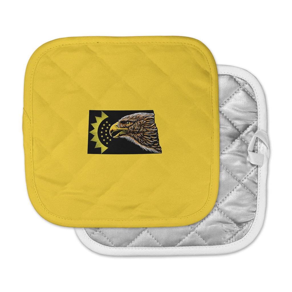 "BarmalisiRTB ""North Dakota"" Yellow Black Digital Pot Holder"