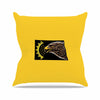 "BarmalisiRTB ""North Dakota"" Yellow Black Digital Outdoor Throw Pillow - KESS InHouse  - 1"