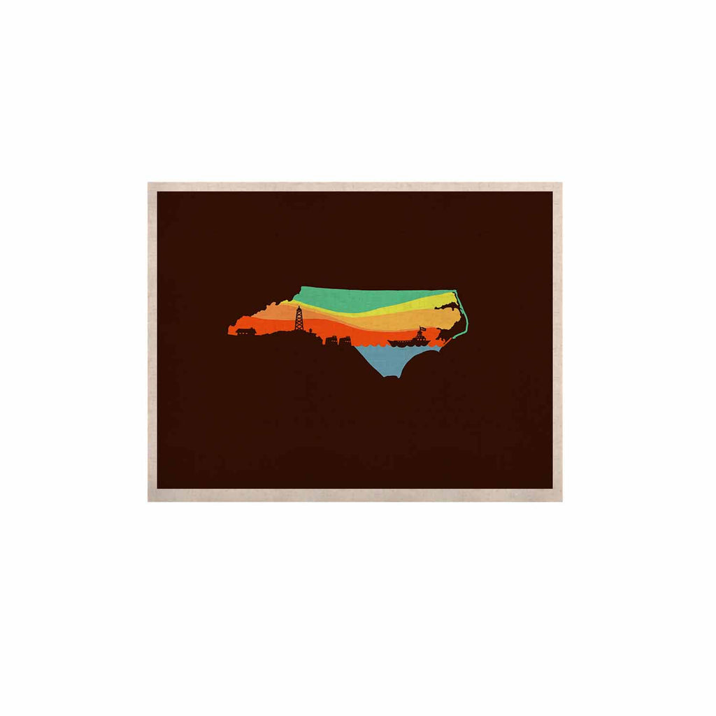 "BarmalisiRTB ""North Carolina"" Brown Orange Digital KESS Naturals Canvas (Frame not Included) - KESS InHouse  - 1"