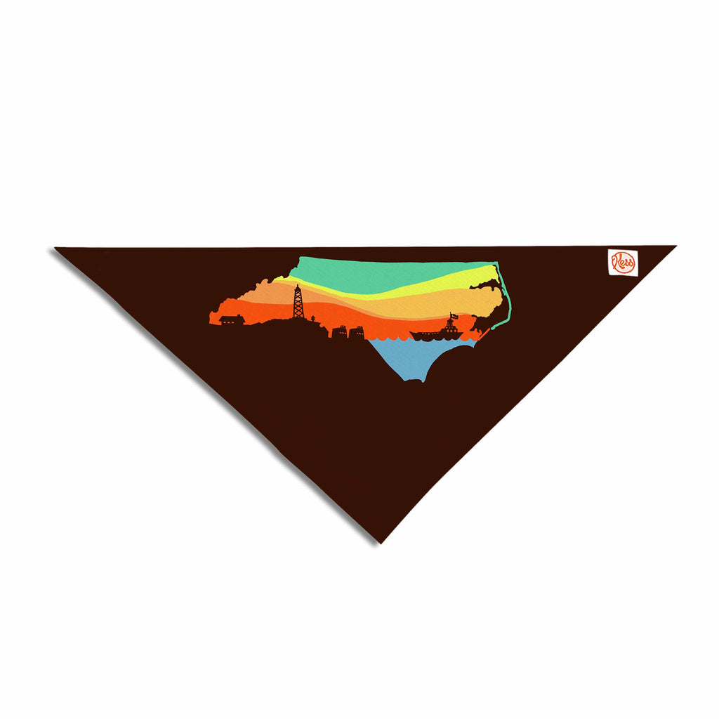 "BarmalisiRTB ""North Carolina"" Brown Orange Digital Pet Bandana - KESS InHouse  - 1"