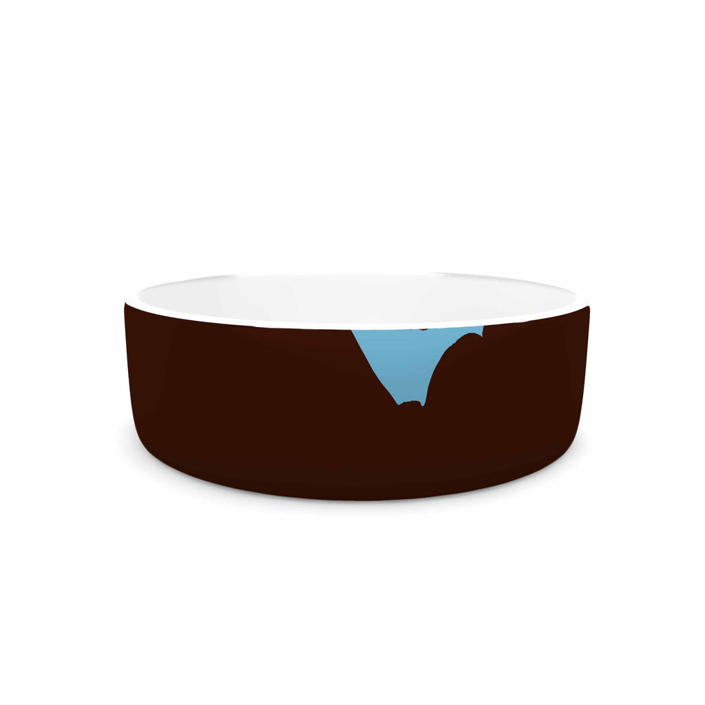 "BarmalisiRTB ""North Carolina"" Brown Orange Digital Pet Bowl - KESS InHouse"