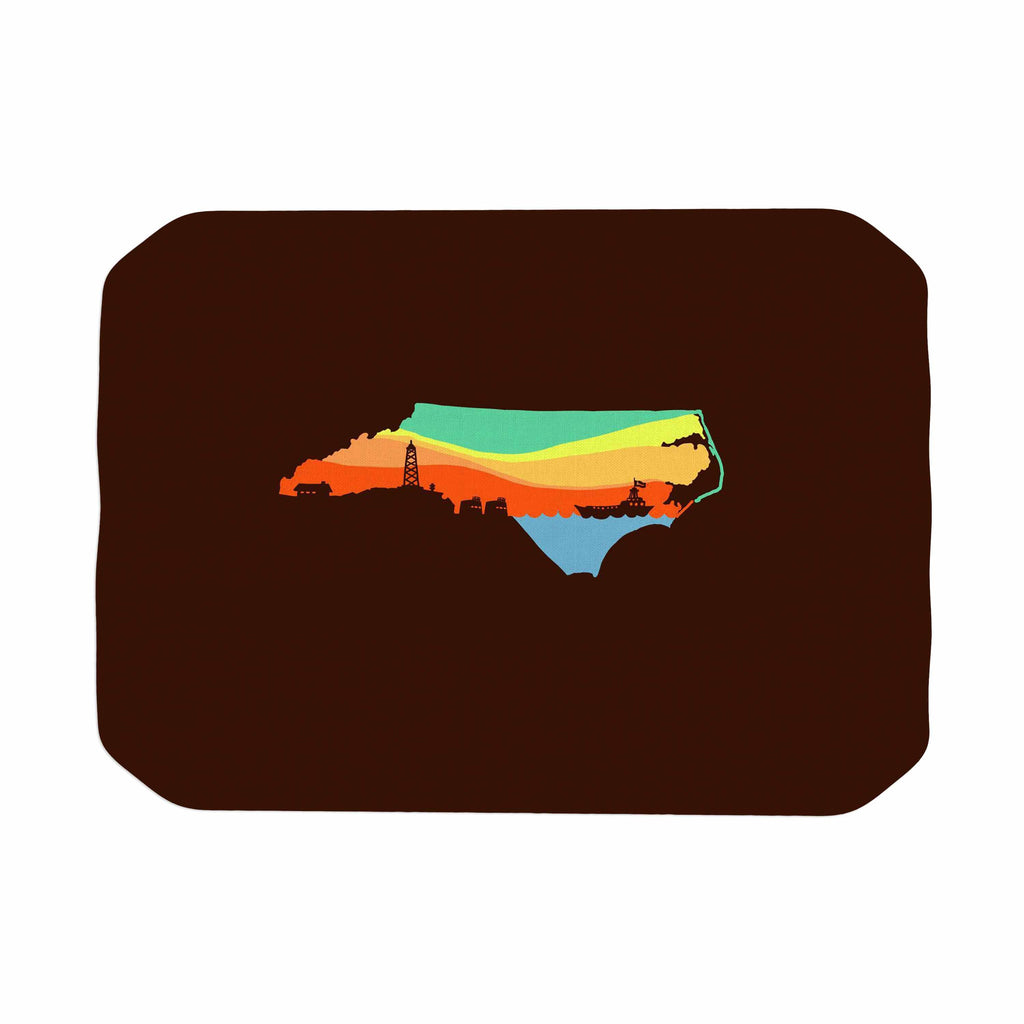 "BarmalisiRTB ""North Carolina"" Brown Orange Digital Place Mat - KESS InHouse"