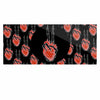 "BarmalisiRTB ""Peace Heart"" Black Red Digital Luxe Rectangle Panel - KESS InHouse  - 1"