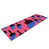 "BarmalisiRTB ""Paintbrush"" Black Blue Digital Yoga Mat - KESS InHouse  - 1"