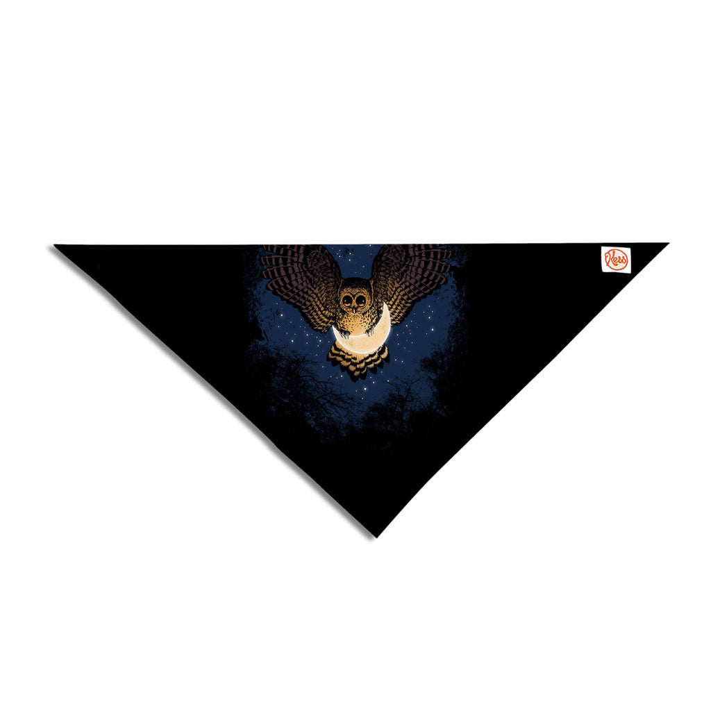 "BarmalisiRTB ""Catch The Moon"" Blue Yellow Digital Pet Bandana - KESS InHouse  - 1"