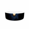 "BarmalisiRTB ""Catch The Moon"" Blue Yellow Digital Pet Bowl - KESS InHouse"