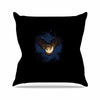 "BarmalisiRTB ""Catch The Moon"" Blue Yellow Digital Outdoor Throw Pillow - KESS InHouse  - 1"