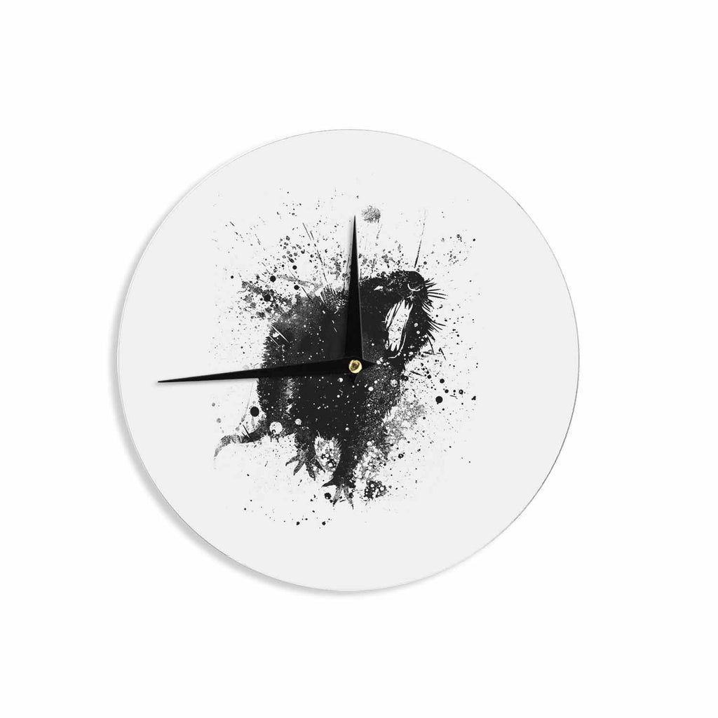 "BarmalisiRTB ""Rat"" Black White Digital Wall Clock - KESS InHouse"