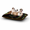 "BarmalisiRTB ""Rainbow Jellyfish"" White Black Digital Dog Bed - KESS InHouse  - 1"