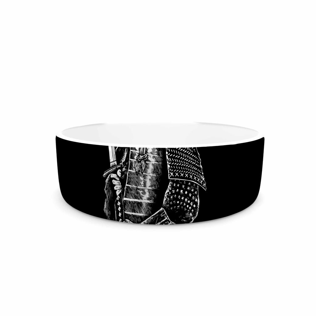 "BarmalisiRTB ""SamuraiZ"" Red White Digital Pet Bowl - KESS InHouse"