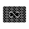 "BarmalisiRTB ""Love Infinity"" Black White Digital Memory Foam Bath Mat - KESS InHouse"
