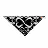 "BarmalisiRTB ""Love Infinity"" Black White Digital Pet Bandana - KESS InHouse  - 1"