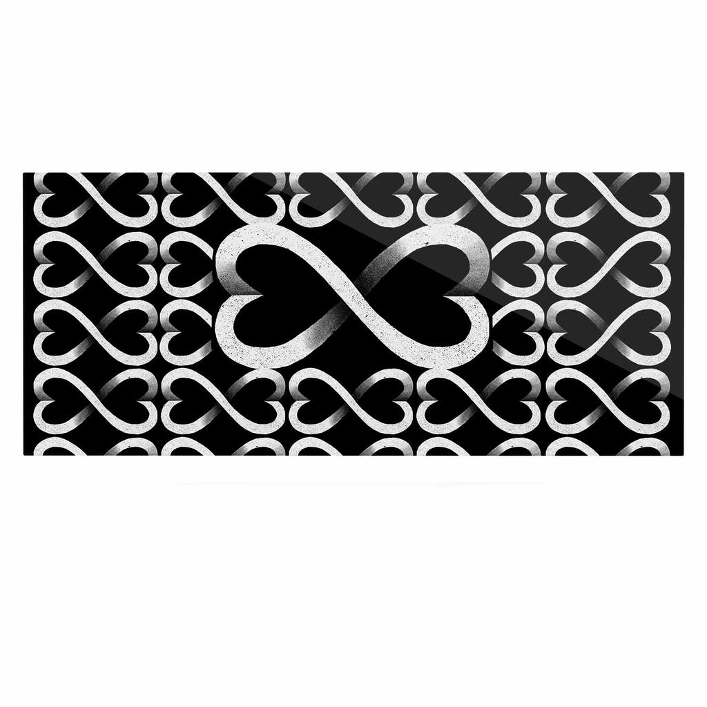 "BarmalisiRTB ""Love Infinity"" Black White Digital Luxe Rectangle Panel - KESS InHouse  - 1"