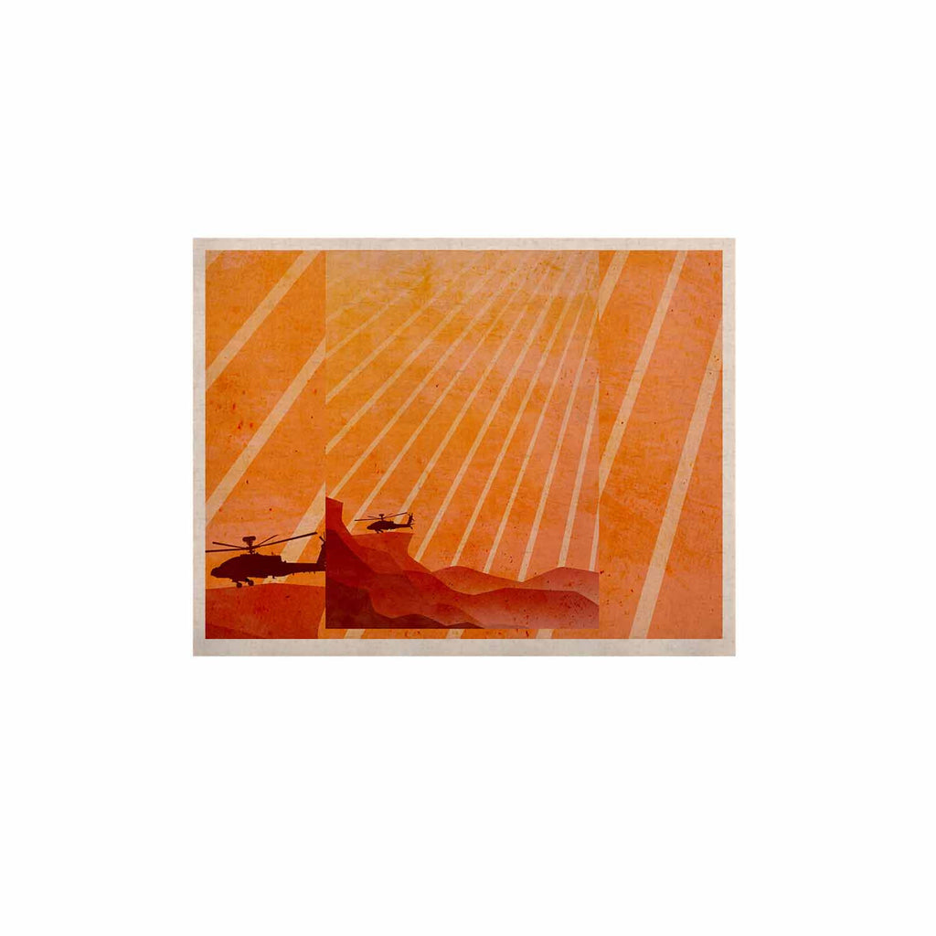 "BarmalisiRTB ""Landed"" Yellow Orange Illustration KESS Naturals Canvas (Frame not Included) - KESS InHouse  - 1"