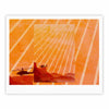 "BarmalisiRTB ""Landed"" Yellow Orange Illustration Fine Art Gallery Print - KESS InHouse"