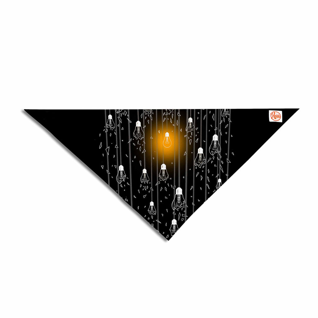 "BarmalisiRTB ""One Light"" Black White Digital Pet Bandana - KESS InHouse  - 1"