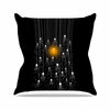 "BarmalisiRTB ""One Light"" Black White Digital Outdoor Throw Pillow - KESS InHouse  - 1"