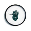 "BarmalisiRTB ""Mohawk Buffalo"" Green White Digital Modern Wall Clock"