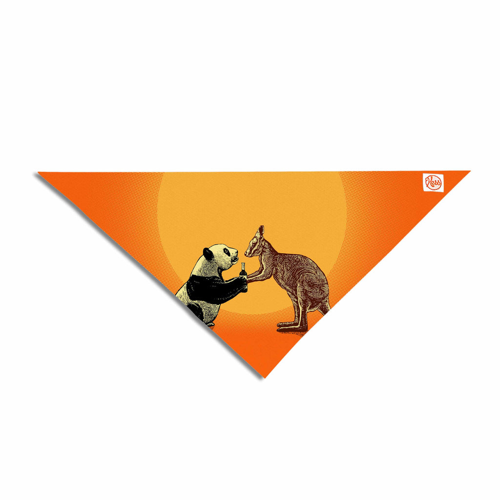 "BarmalisiRTB ""Snatch"" Orange Yellow Digital Pet Bandana - KESS InHouse  - 1"