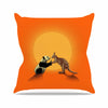 "BarmalisiRTB ""Snatch"" Orange Yellow Digital Throw Pillow - KESS InHouse  - 1"