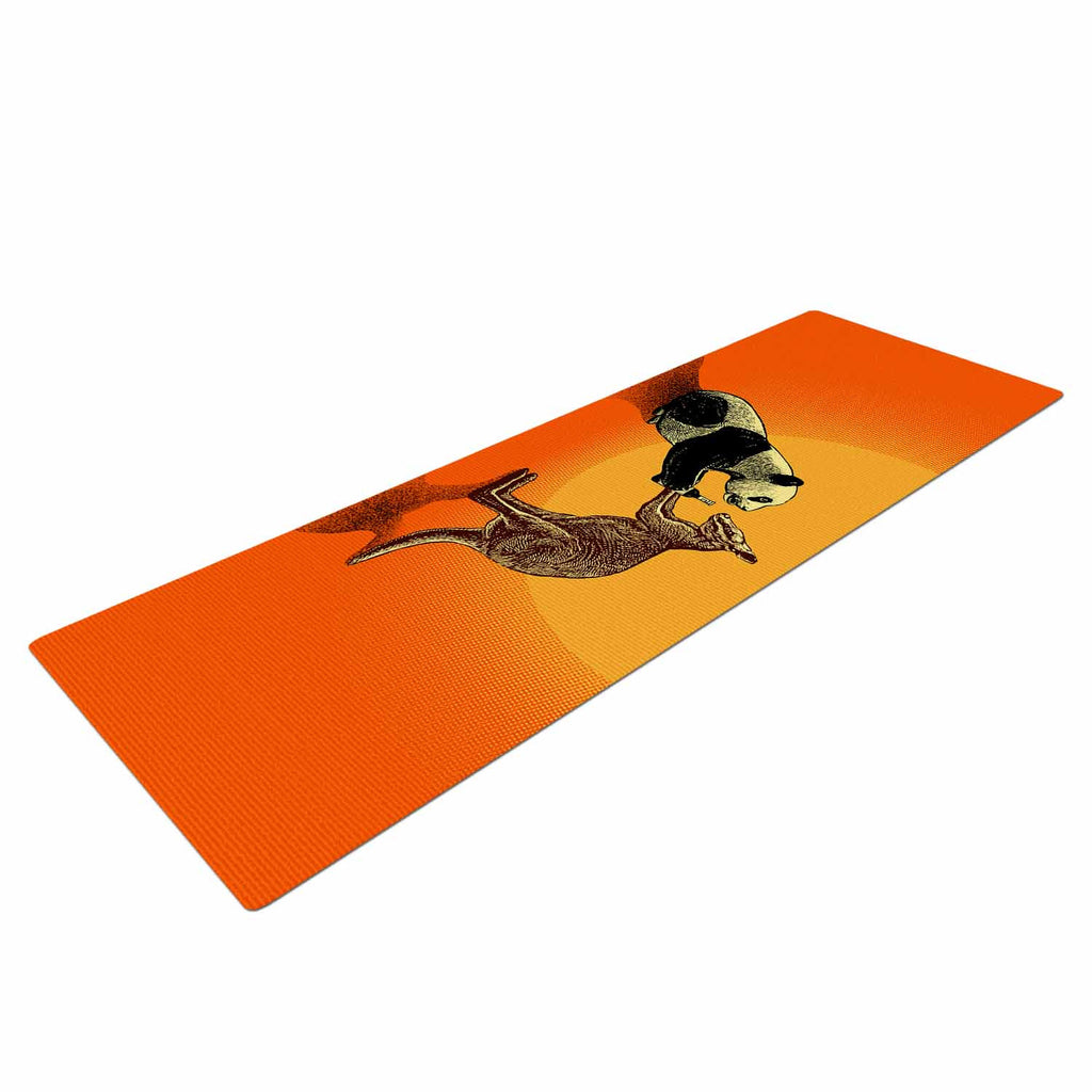 "BarmalisiRTB ""Snatch"" Orange Yellow Digital Yoga Mat - KESS InHouse  - 1"