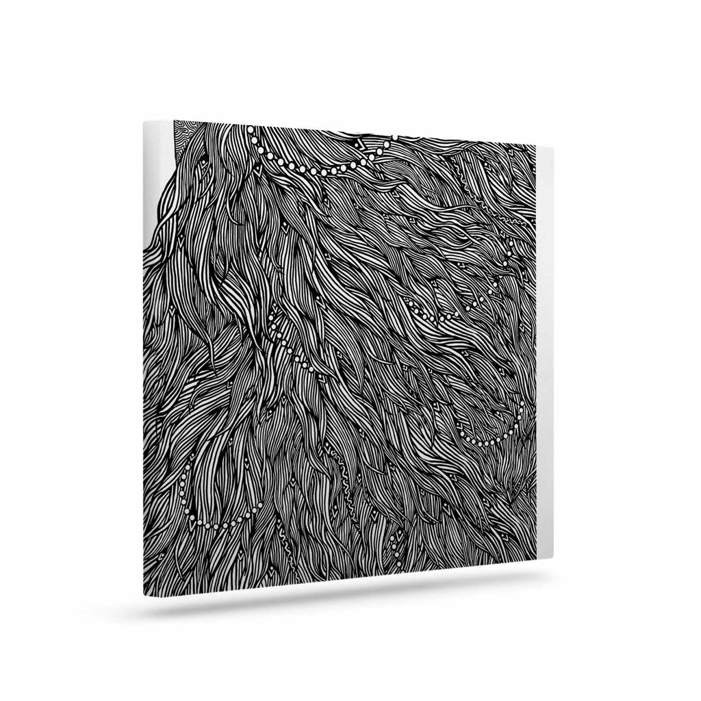 "BarmalisiRTB ""Bushy"" Black White Digital Canvas Art - KESS InHouse  - 1"